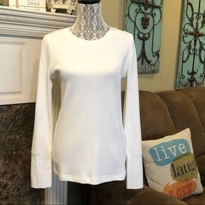 Sundance Crewneck Thermal Waffle Knit Top BNWT